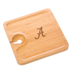 Alabama Bamboo Party Plate