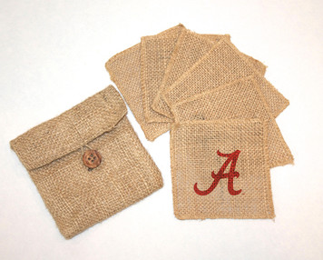 Alabama Burlap Coasters