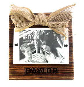 Baylor Wood Frame with Burlap Bow