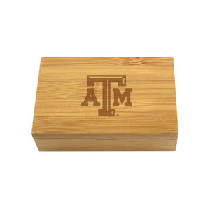 Texas A&M Bamboo Corkscrew Set