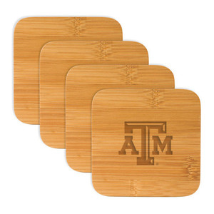 Texas A&M Bamboo Coasters