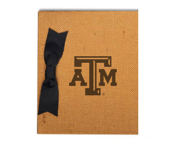 Texas A&M Burlap Brag Book
