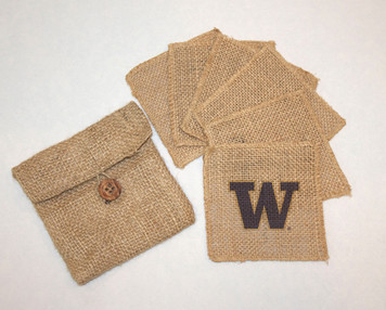 Washington Burlap Coasters