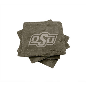 Oklahoma State Slate Coasters (set of 4)