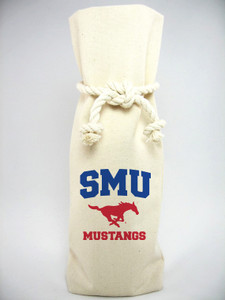 Southern Methodist Canvas Bottle Tote