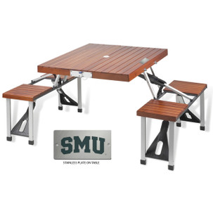 Southern Methodist Folding Picnic Table for 4