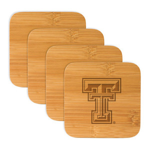 Texas Tech Bamboo Coasters