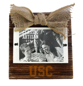 USC Wood Frame with Burlap Bow