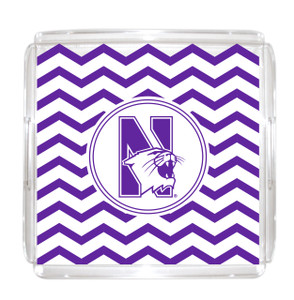Northwestern Lucite Tray 12x12