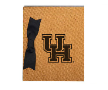 Houston Burlap Brag Book
