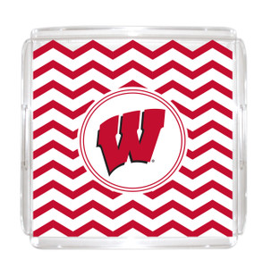 Wisconsin-Madison Lucite Tray 12x12