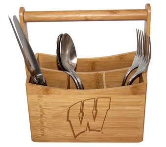 Wisconsin-Madison Bamboo Caddy