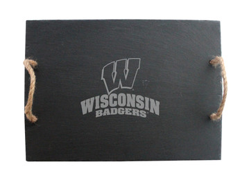 Wisconsin-Madison Slate Server w/ Rope Handles