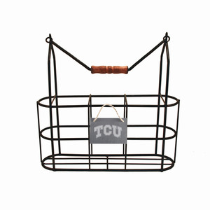 Texas Christian Vintage Bottle Carrier
