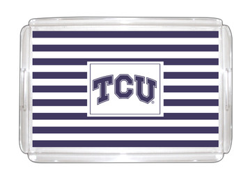 Texas Christian Lucite Tray 11x17
