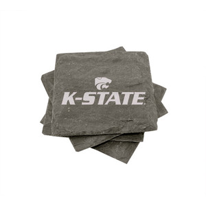 Kansas State Slate Coasters (set of 4)