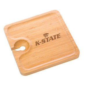 Kansas State Bamboo Party Plate