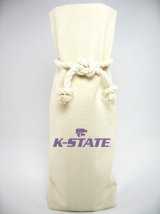 Kansas State Canvas Bottle Tote