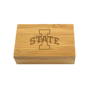 Iowa State Bamboo Corkscrew Set