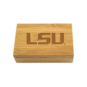 LSU Bamboo Corkscrew Set