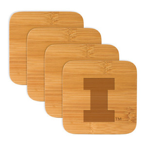 University of Illinois Bamboo Coasters