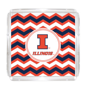University of Illinois Lucite Tray 12x12