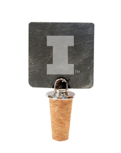 University of Illinois Slate Bottle Stopper