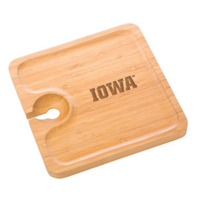 University of Iowa Bamboo Party Plate