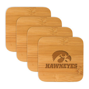 University of Iowa Bamboo Coasters