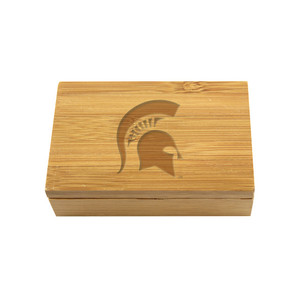 Michigan State Bamboo Corkscrew Set