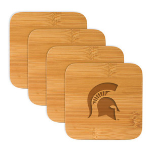 Michigan State Bamboo Coasters