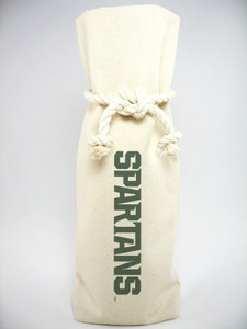 Michigan State Canvas Bottle Tote