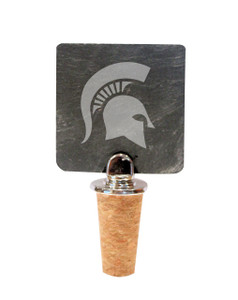 Michigan State Slate Bottle Stopper