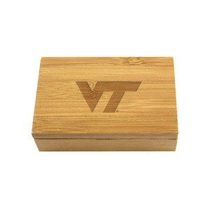 Virginia Tech Bamboo Corkscrew Set