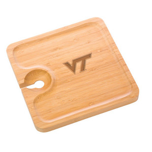 Virginia Tech Bamboo Party Plate