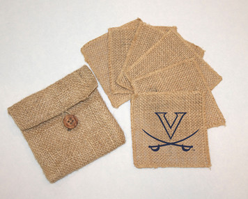 Virginia Burlap Coasters
