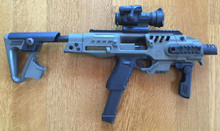 Glock 17 9mm with auto sear in Roni Recon stock system - 50 Rounds Included