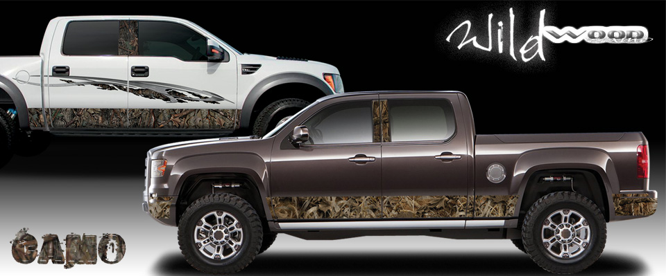 Camouflage Wrap, Rocker Panels, and Body Graphics