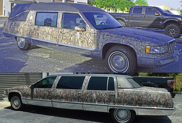 Camo Hearse Vehicle Wrap