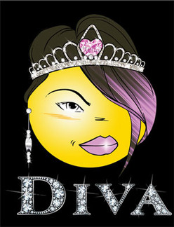 Diva Emoticon - Decal