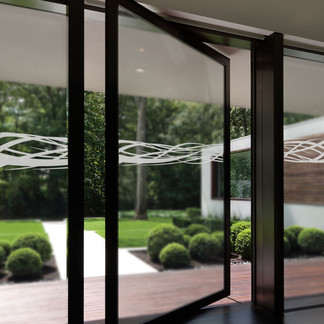 EtchedFX glass film style: Rococo applied on sliding doors