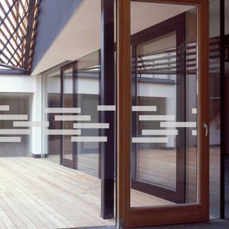 EtchedFX glass film style: Random Blocks - GE4013