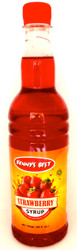 Kenny's Best Strawberry Syrup 26oz