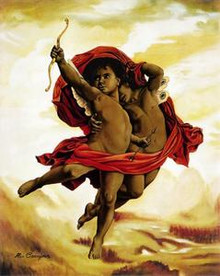 Cupid & Psyche Art Print - Alix Beaujour