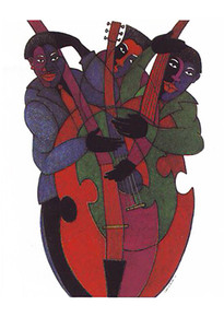 Jazz Strings Art Print - Charles Bibbs