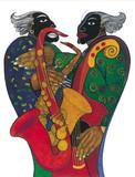 Hands On Jazz II Art Print - Charles Bibbs