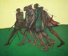 Herdsticks and Sandals Art Print - Charles Bibbs