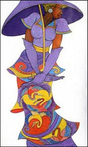 The Purple Umbrella Limited Edition Art Print - Charles Bibbs