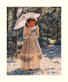 Girl with Parasol Art Print - Melinda Byers