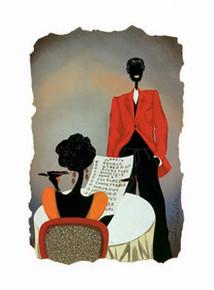 Her Check List Art Print - Leroy Campbell